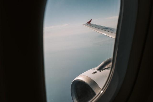 fotografía desde avión
