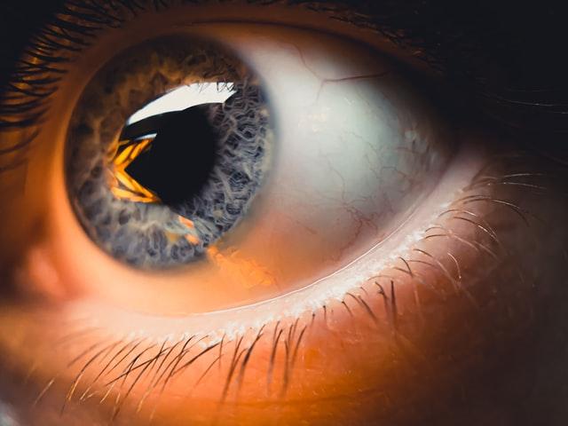 fotografia macro de ojo